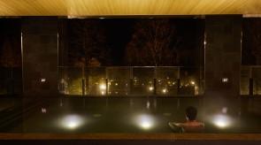 半屋外のお風呂場